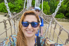 Beautiful Woman doing selfie Royalty Free Stock Photography