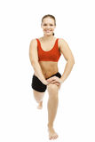 Beautiful woman doing stretching exercise Stock Images