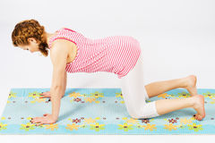 Beautiful woman doing stretching exercise Royalty Free Stock Photo