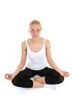 Beautiful woman doing yoga Stock Image