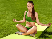 Beautiful Woman doing Yoga exercises Stock Images