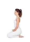 Beautiful woman doing yoga Stock Photo