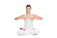 Beautiful woman doing yoga Royalty Free Stock Images