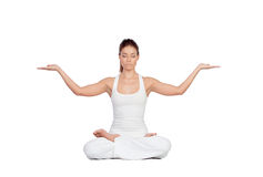 Beautiful woman doing yoga Royalty Free Stock Photos