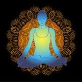Beautiful woman doing yoga meditation Royalty Free Stock Photos
