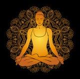 Beautiful woman doing yoga meditation Stock Image