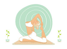 Beautiful woman doing yoga practice Royalty Free Stock Photo