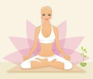 Beautiful woman doing youga exercises Stock Photos