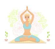 Beautiful woman doing youga exercises Stock Photo