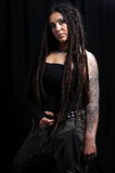 Beautiful woman with dreadlocks Royalty Free Stock Photo