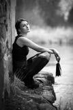 Beautiful woman dreaming Stock Photography