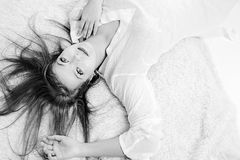 Beautiful woman dreams about her boyfriend Royalty Free Stock Photos