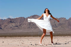Beautiful woman in dress Royalty Free Stock Photography