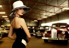 Beautiful woman in dress Stock Images