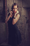 Beautiful woman in a dress Royalty Free Stock Image