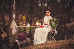 Beautiful woman in a dress Stock Image