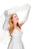 Beautiful woman dressed as a bride Royalty Free Stock Photos