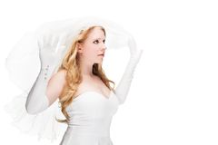 Beautiful woman dressed as a bride Stock Photos