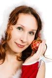 Beautiful woman dressed as Santa Royalty Free Stock Photos