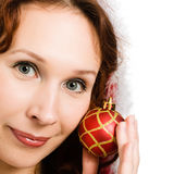 Beautiful woman dressed as Santa Royalty Free Stock Image