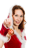 Beautiful woman dressed as Santa Royalty Free Stock Photo