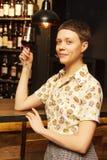 Beautiful woman drink wine Stock Photography