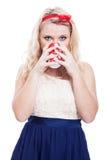 Beautiful woman drinking Royalty Free Stock Image