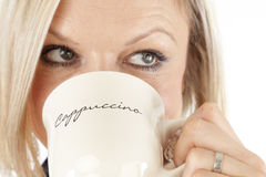 Beautiful Woman is drinking Coffee Stock Photo