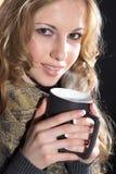 Beautiful woman drinking tea Royalty Free Stock Photo