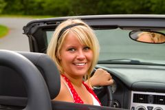 Beautiful woman driver Royalty Free Stock Photo
