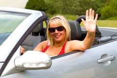Beautiful woman driver Royalty Free Stock Photography