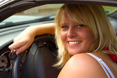 Beautiful woman driver Royalty Free Stock Images