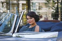 Beautiful woman driving Royalty Free Stock Image