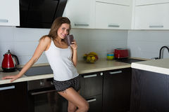 Beautiful woman early in the morning Stock Images