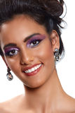 Beautiful woman with earrings. Royalty Free Stock Photography