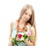 Beautiful woman in elegant dress Stock Image