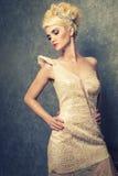 Beautiful woman in an elegant dress Royalty Free Stock Image