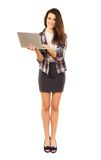 Beautiful Woman Enjoying Browsing the Internet Stock Image
