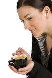 Beautiful woman enjoying coffee Royalty Free Stock Photos