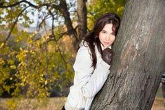 Beautiful Woman Enjoying In Park Royalty Free Stock Image