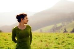 Beautiful woman enjoying nature Stock Photography