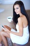 Beautiful woman enjoying a relaxing day Stock Photo