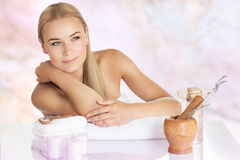Beautiful woman enjoying spa Royalty Free Stock Images
