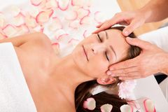 Beautiful woman enjoying a spa treatment