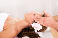 Beautiful woman enjoying a spa treatment Royalty Free Stock Photo
