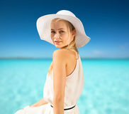 Beautiful woman enjoying summer outdoors Royalty Free Stock Images