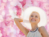 Beautiful woman enjoying summer outdoors Royalty Free Stock Photography