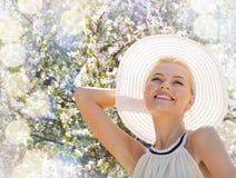 Beautiful woman enjoying summer outdoors Royalty Free Stock Photos