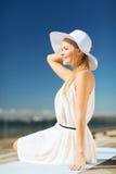 Beautiful woman enjoying summer outdoors Stock Images