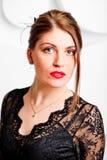 Beautiful woman in an  evening dress Royalty Free Stock Photo